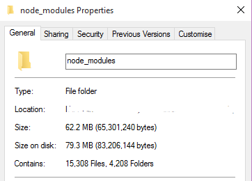 Reduce node_modules recursion and long paths for ASP NET 5