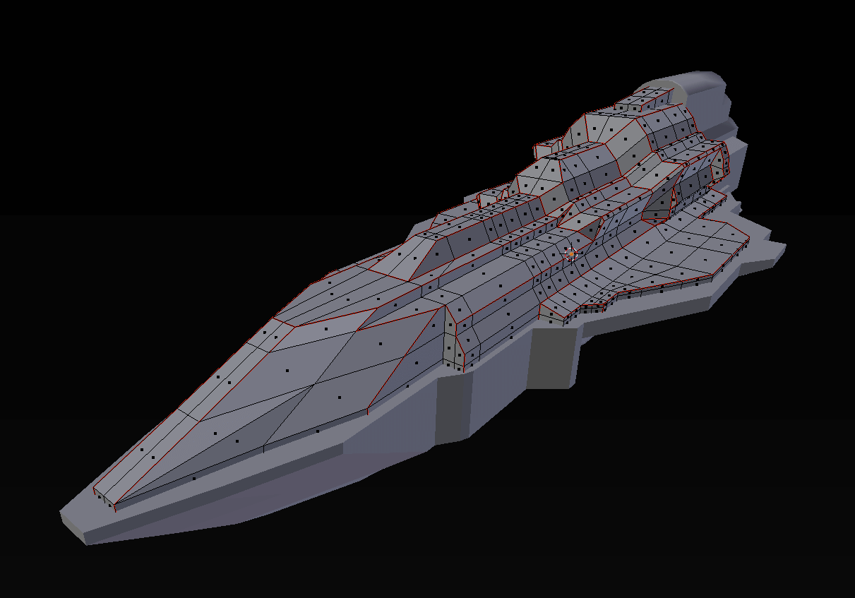 Creating Edge Seams for UV Unwrapping - Lux Cruiser Top Chassis